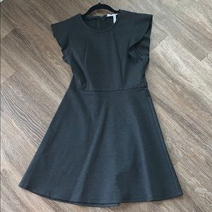 Charcoal ALine dress. Very flattering!